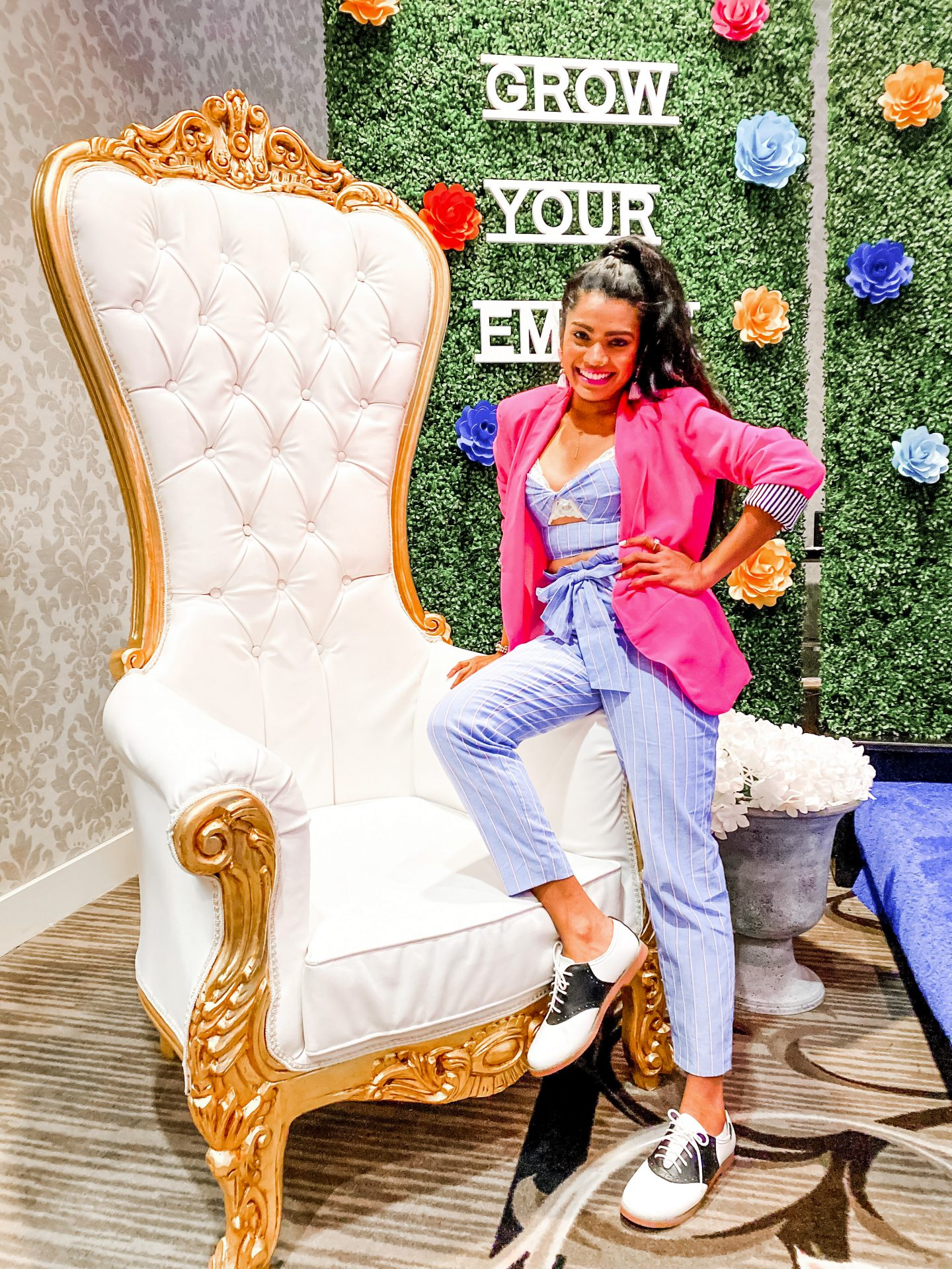 quarantine-social-distancing-june-edition-monthly-favorite-product-finds-pink-blazer-royal-chair-two-piece-suit
