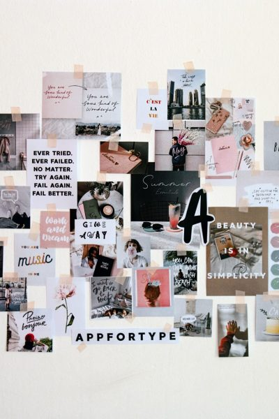 Create vision board ideas and inspiration collage