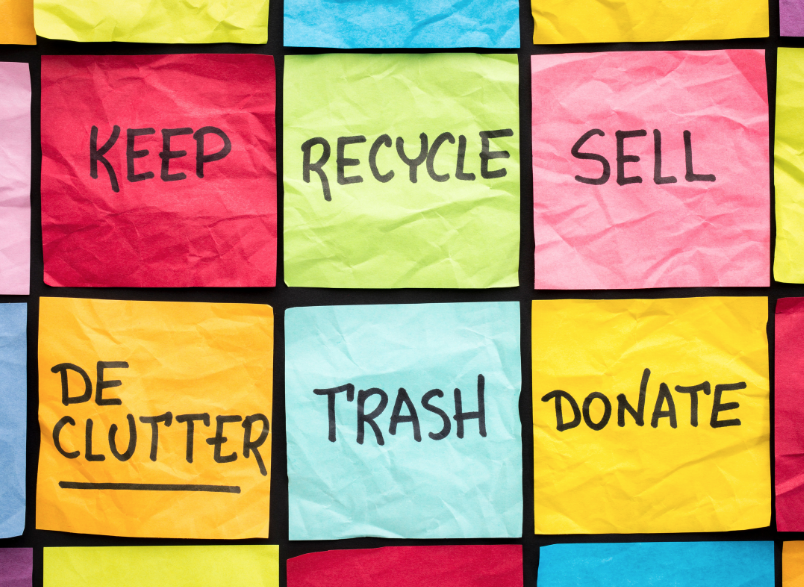 Tips-hacks-to-declutter-sort- organize-your-home-recycle-donate-trash